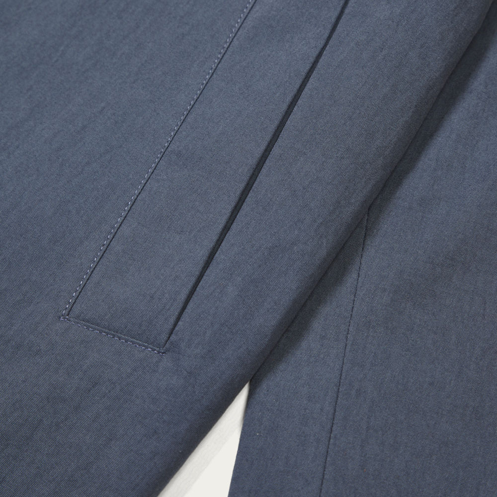 Brushed Blue Witham Coach Jacket | Bombinate