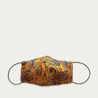 Yellow Paisley Silk Face Mask with Filter Pocket | Bombinate