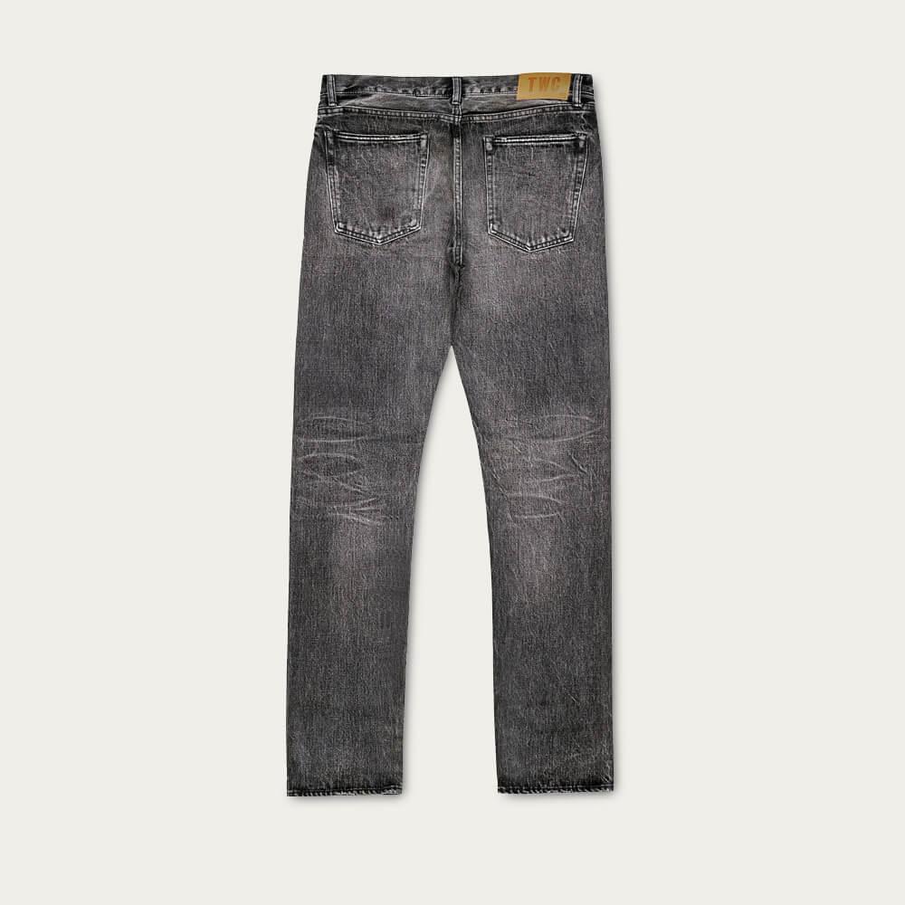 Black Fade Slim Fit Selvedge Denim Jeans   Bombinate