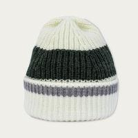 Cream With Green Merino Wool Beanie | Bombinate