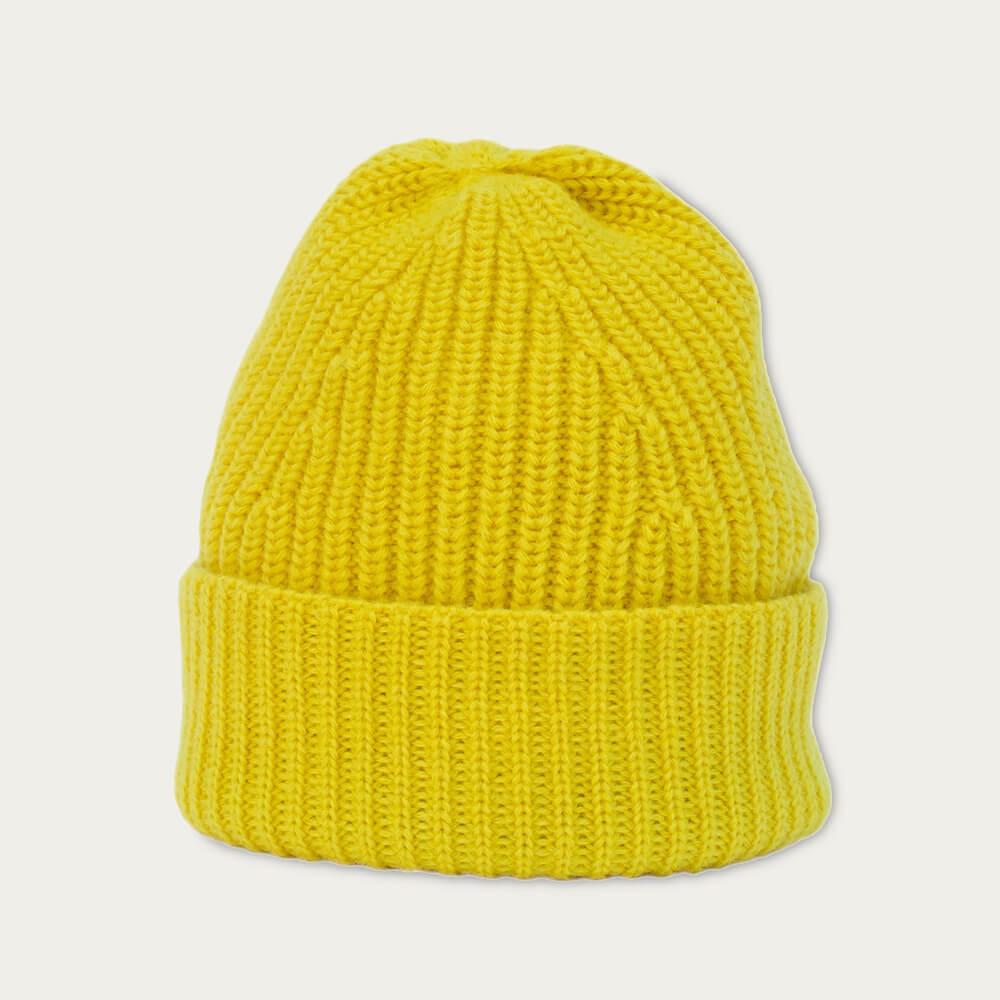 Yellow Merino Wool Beanie   Bombinate