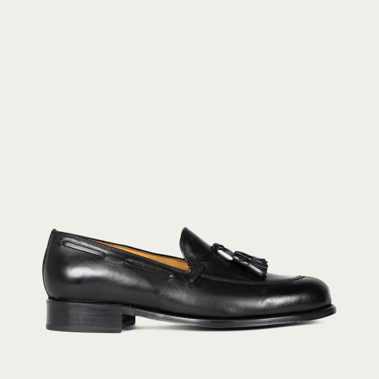 Polished Black Vienna Loafers | Bombinate