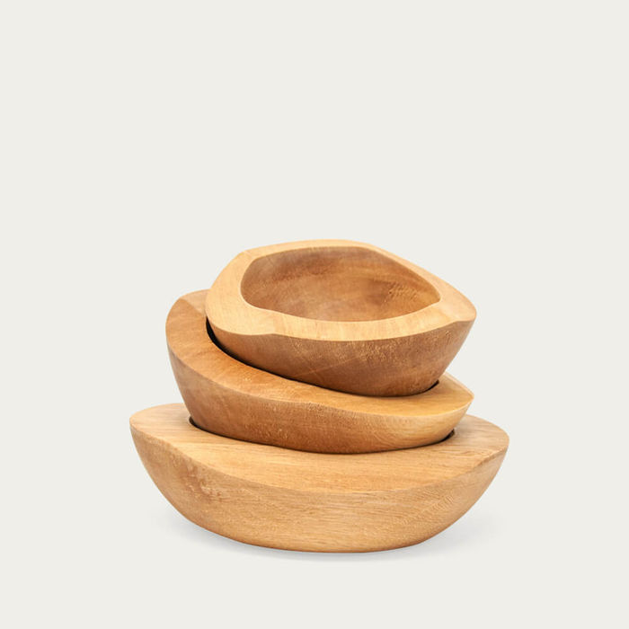 Set of 3 Wooden Bowls   Bombinate