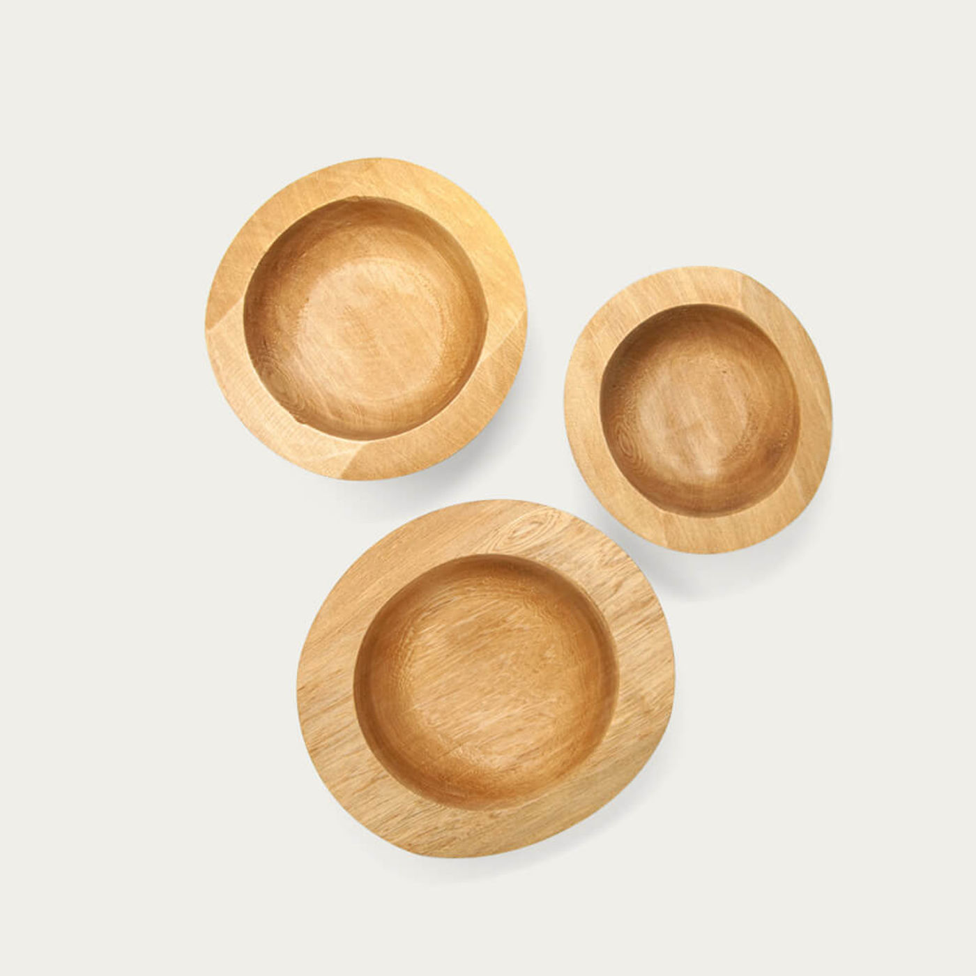 Set of 3 Wooden Bowls | Bombinate