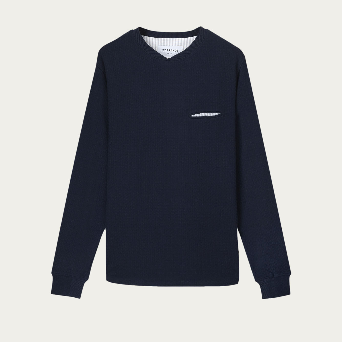 Navy Curve Sweatshirt  | Bombinate