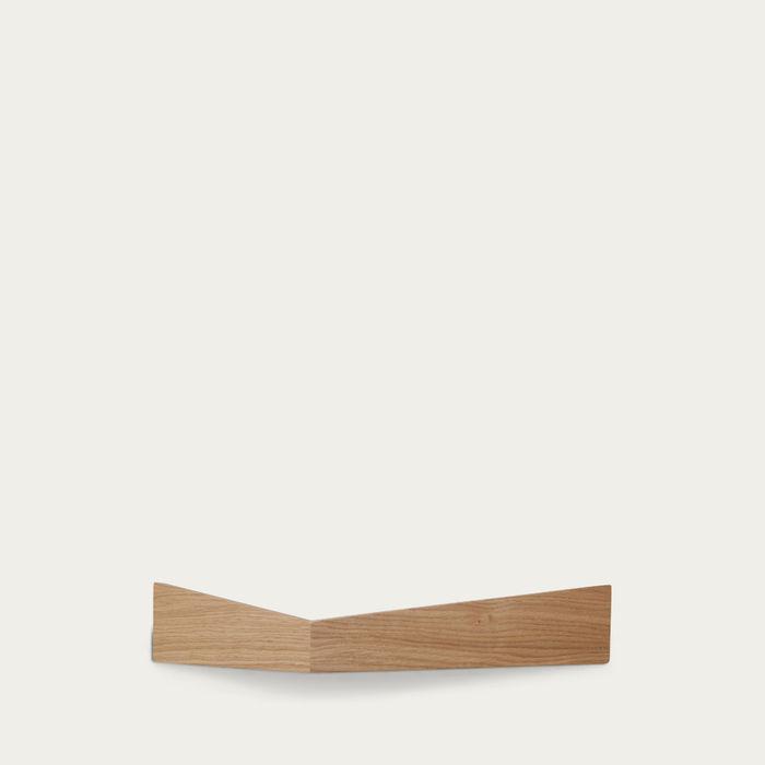 Oak Large Pelican Shelf with Hidden Hooks | Bombinate