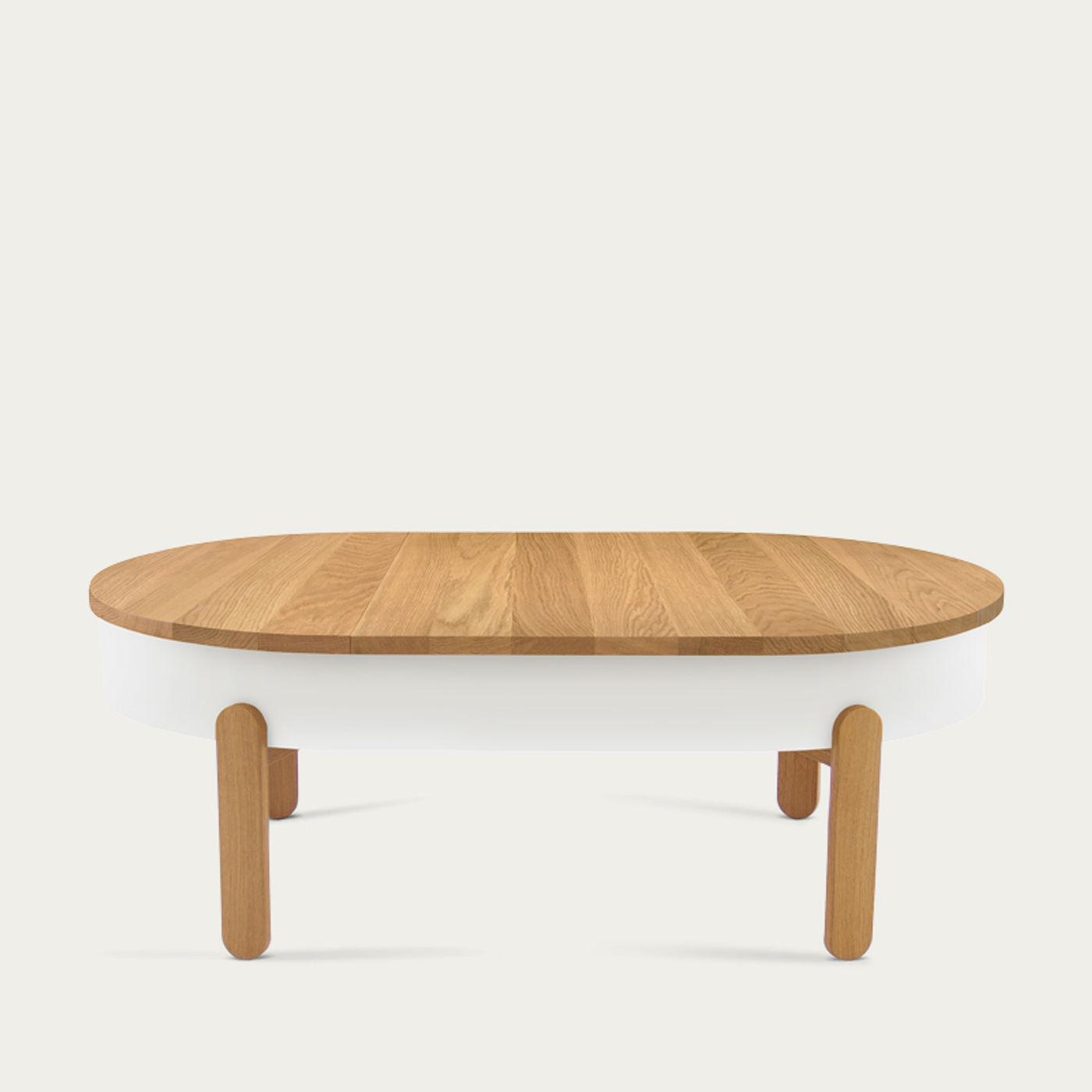 Oak/White Large Batea Coffee Table    Bombinate
