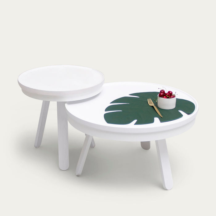 White Medium Batea Coffee Table  | Bombinate