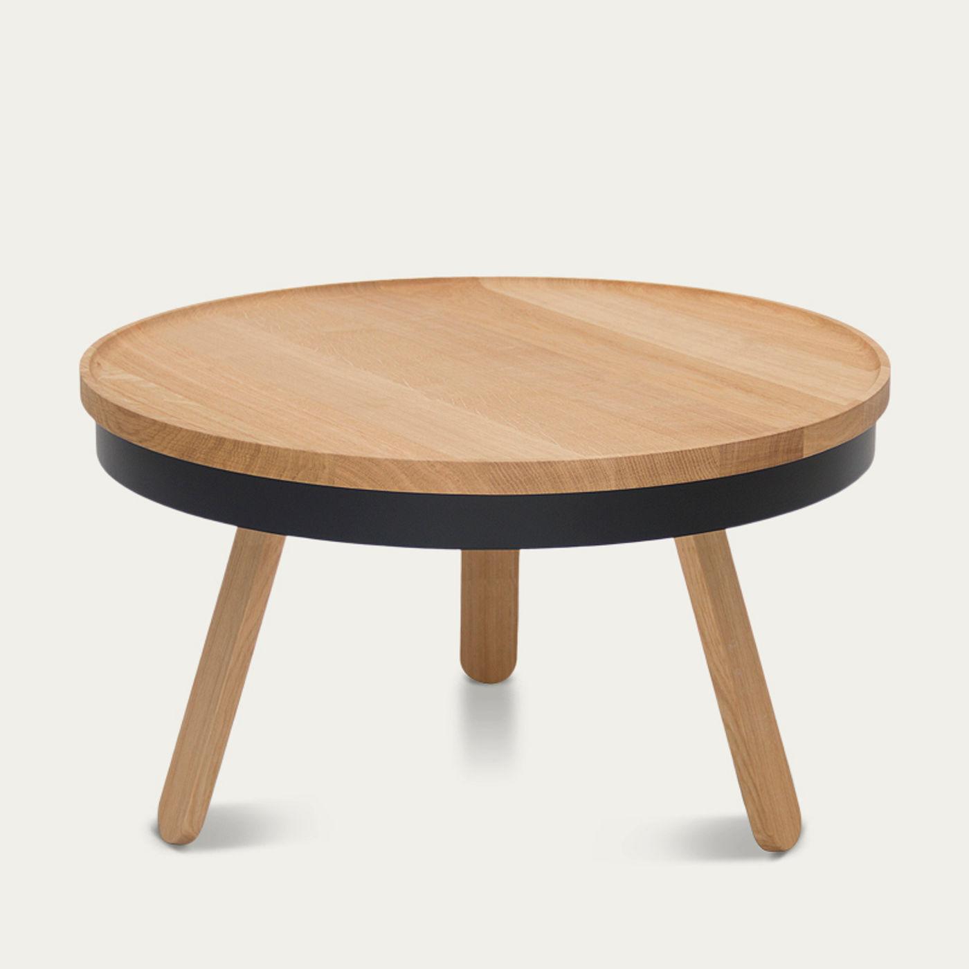 Oak/Black Medium Batea Coffee Table    Bombinate