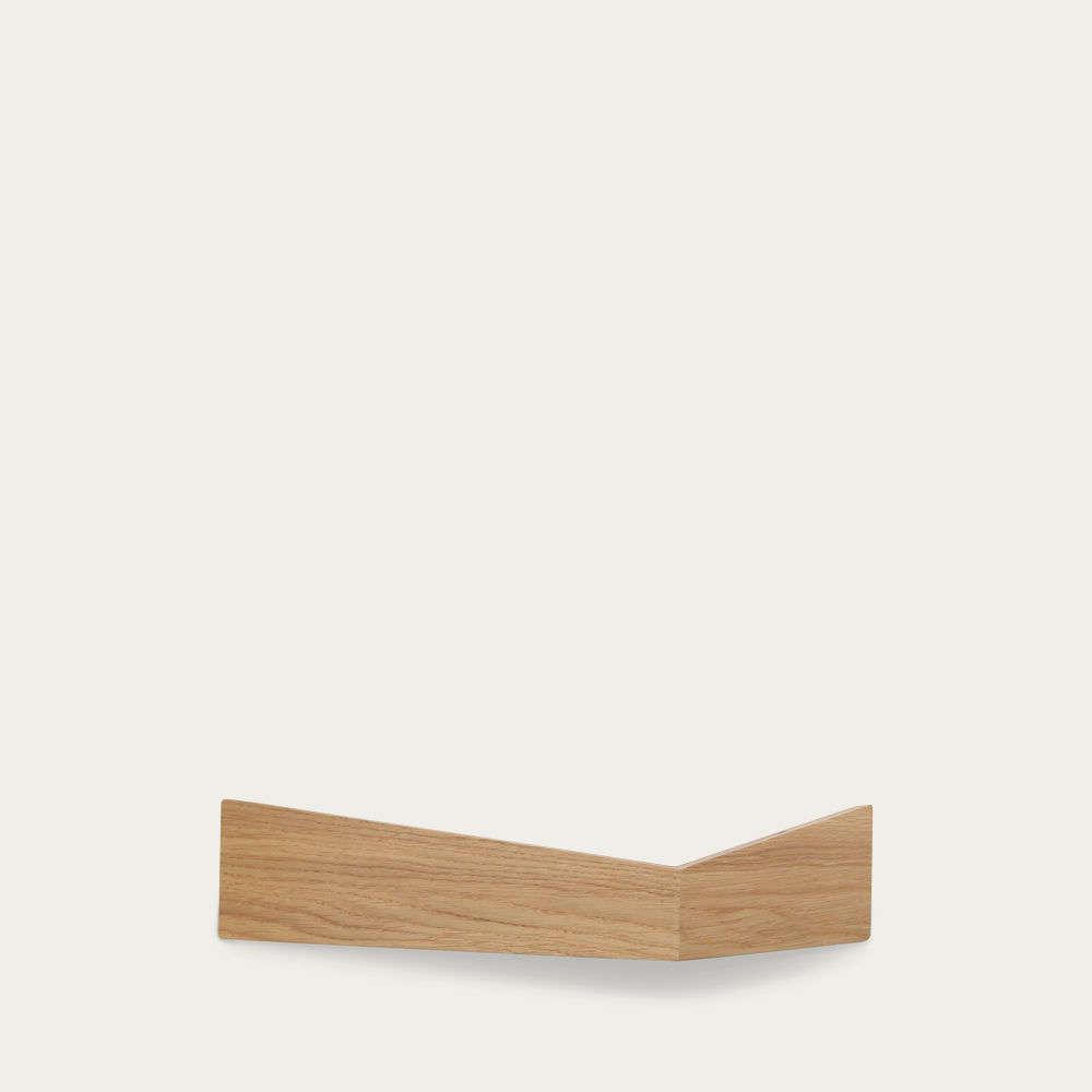 Oak Medium Pelican Shelf with Hidden Hooks | Bombinate