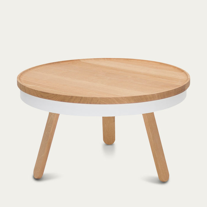 Oak/White Medium Batea Coffee Table  | Bombinate