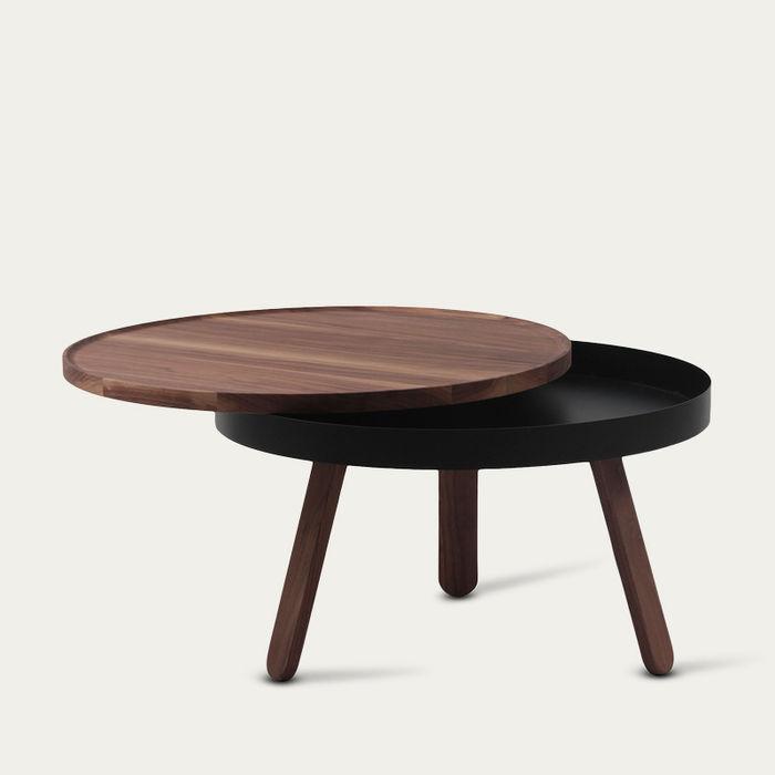 Walnut/Black Medium Batea Coffee Table  | Bombinate