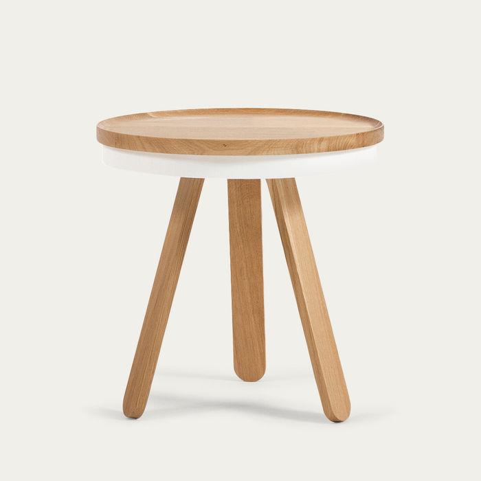 Oak/White Small Batea Tray Table  | Bombinate
