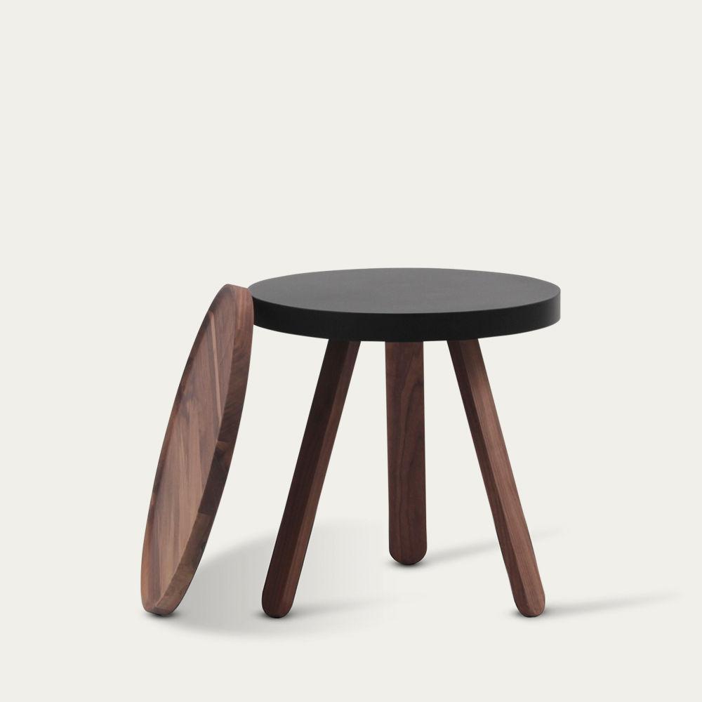 Walnut/Black Small Batea Tray Table  | Bombinate