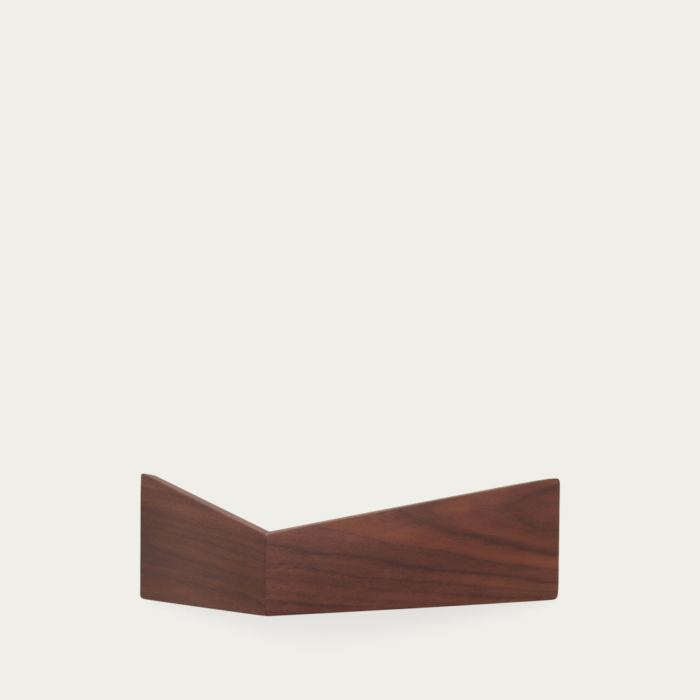 Walnut Small Pelican Shelf with Hidden Hooks  | Bombinate