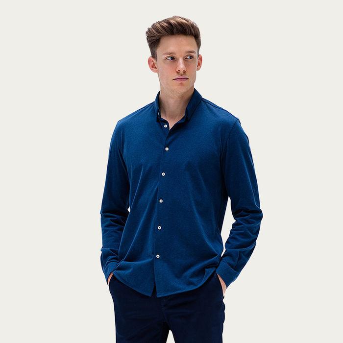 Indigo Melange Ryan Shirt | Bombinate