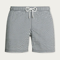 Navy Petit Carre Arthus Yarn Dyed Swim short  | Bombinate