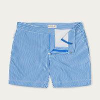 Blue Linear Bond Swim Short | Bombinate