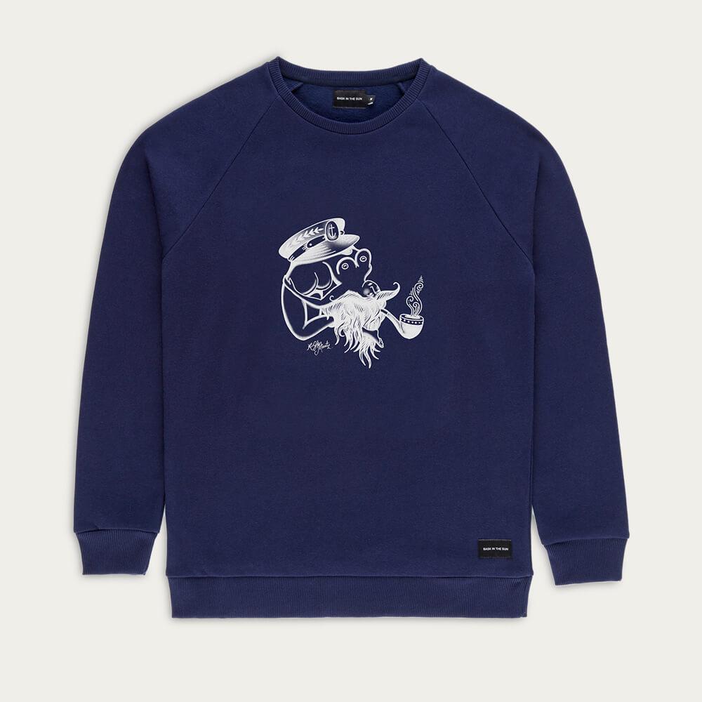 Navy Flipgirl Sweatshirt   Bombinate