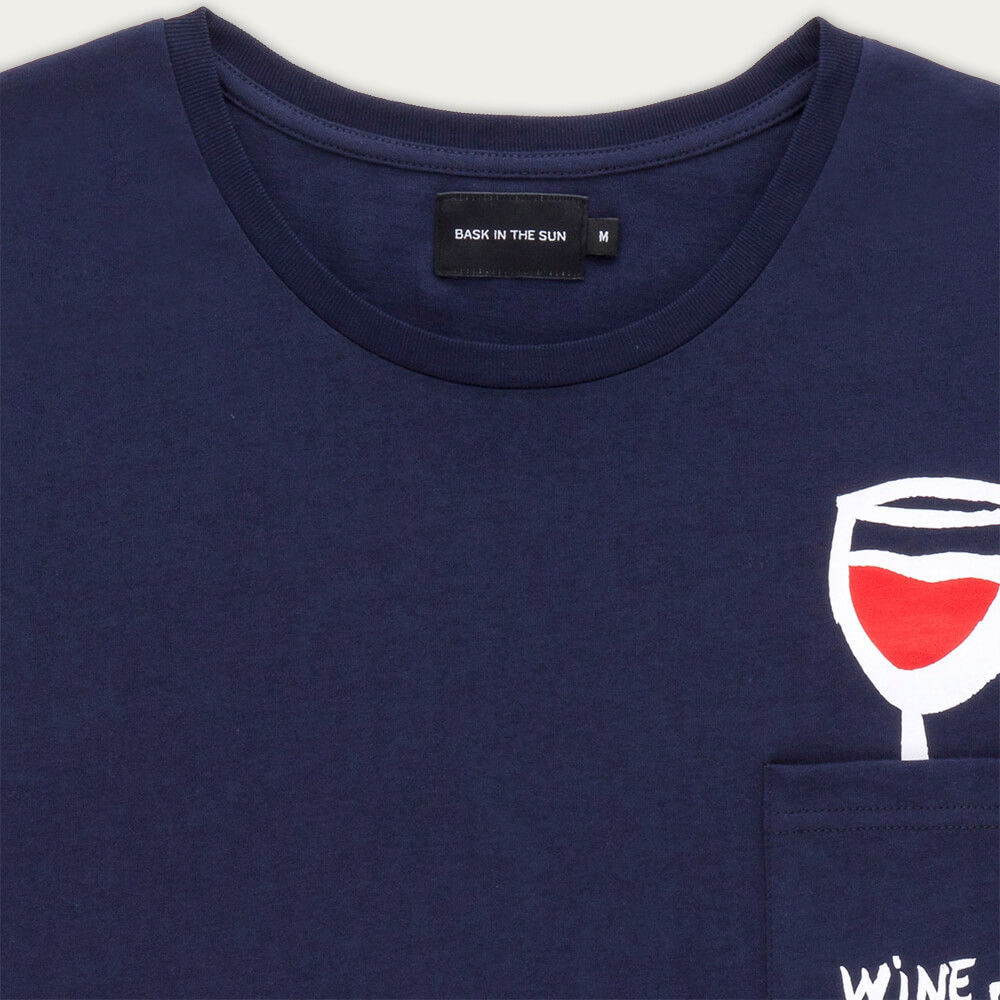 Navy Wine Tee | Bombinate
