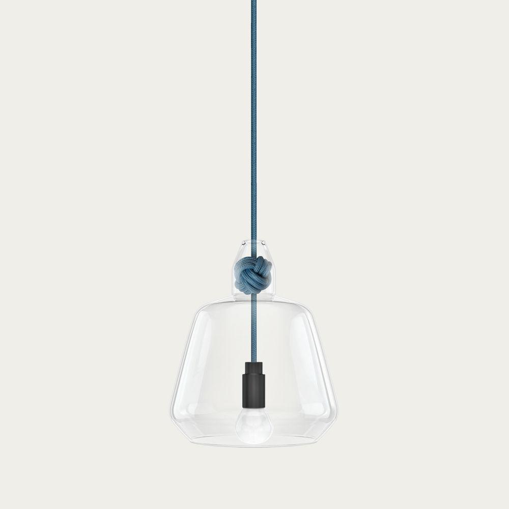 Mid Blue Large Knot Lamp   Bombinate