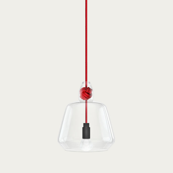 Red Large Knot Lamp | Bombinate