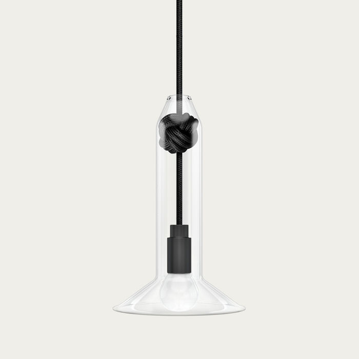 Black Small Knot Lamp | Bombinate