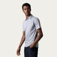 Alloy Grey 'Ultra-Soft' Polo Shirt, Egyptian Mako Cotton | Bombinate