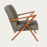 Grey Retrostar Chair Bouclé – Bombinate Exclusive | Bombinate