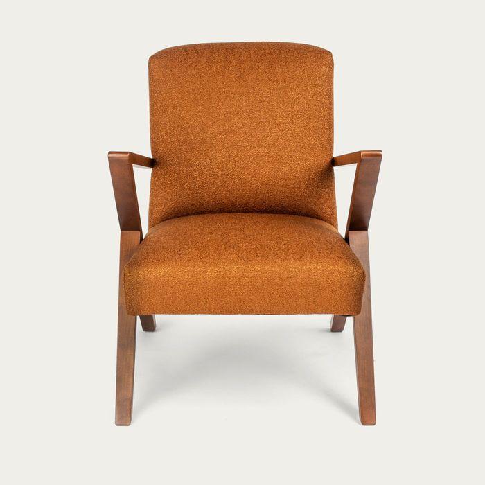 Dark Orange Retrostar Chair Bouclé – Bombinate Exclusive | Bombinate