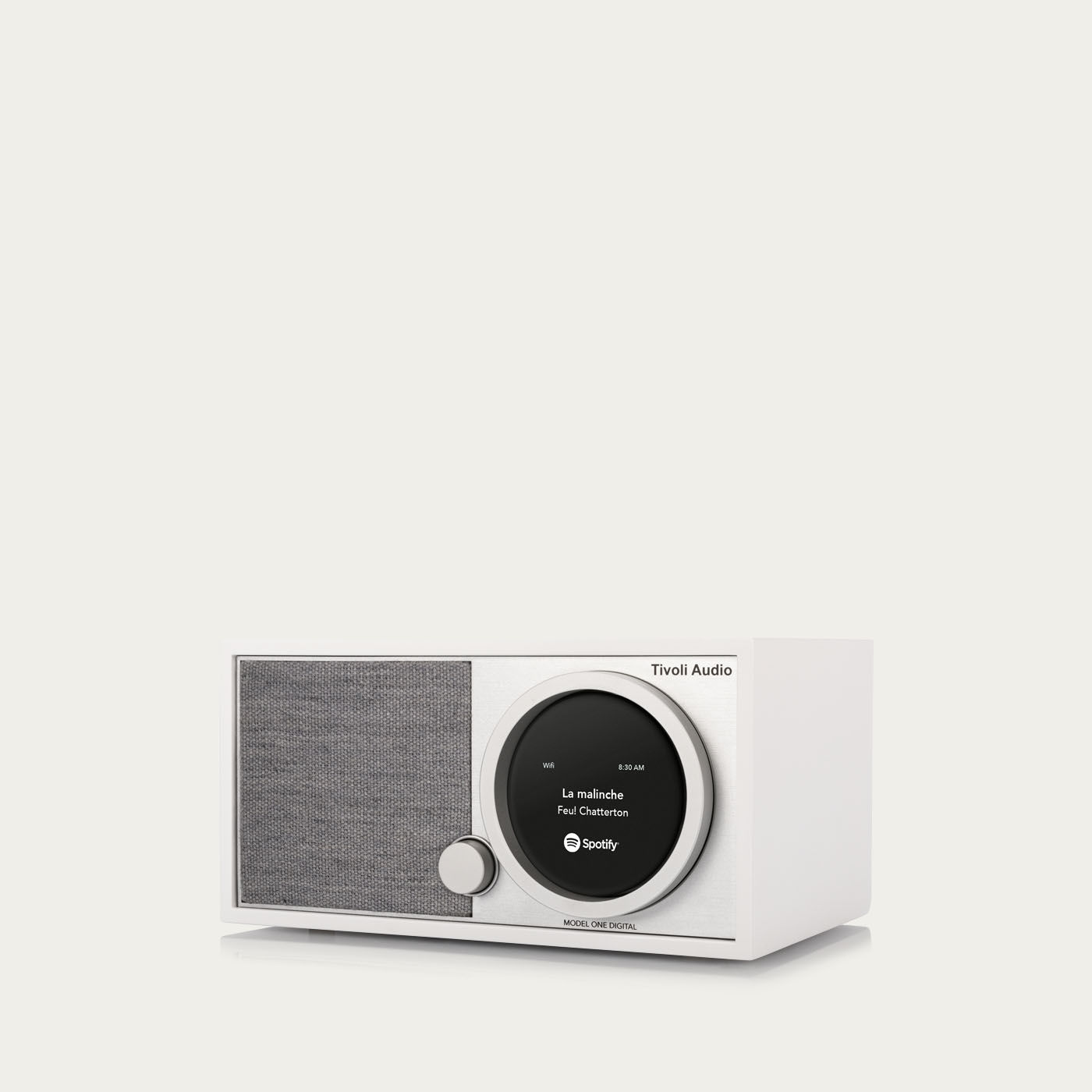 White / Grey One Digital Model Speaker | Bombinate