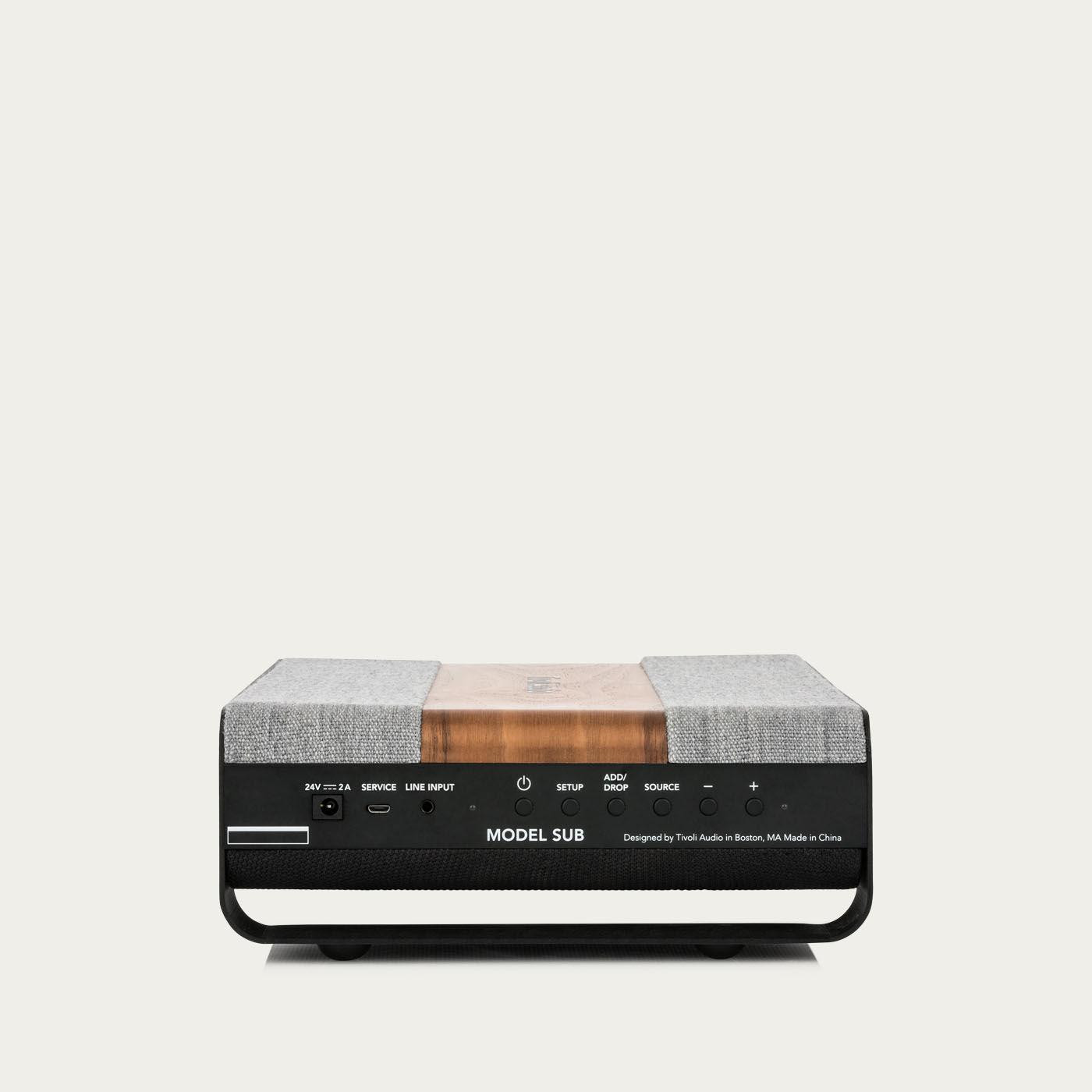 Walnut / Grey Model Sub Speakers | Bombinate