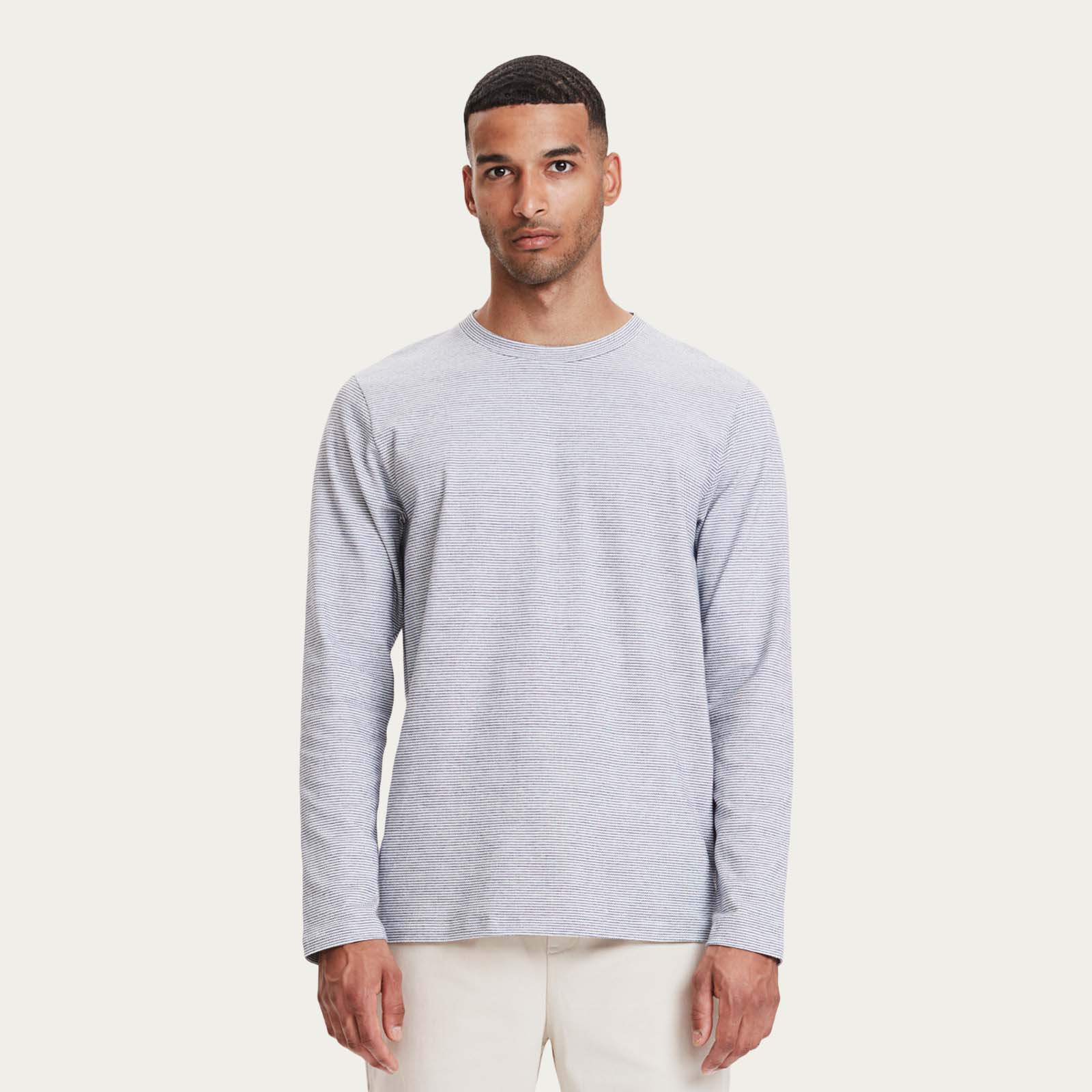 White Stripe Toledo LS T-Shirt    Bombinate