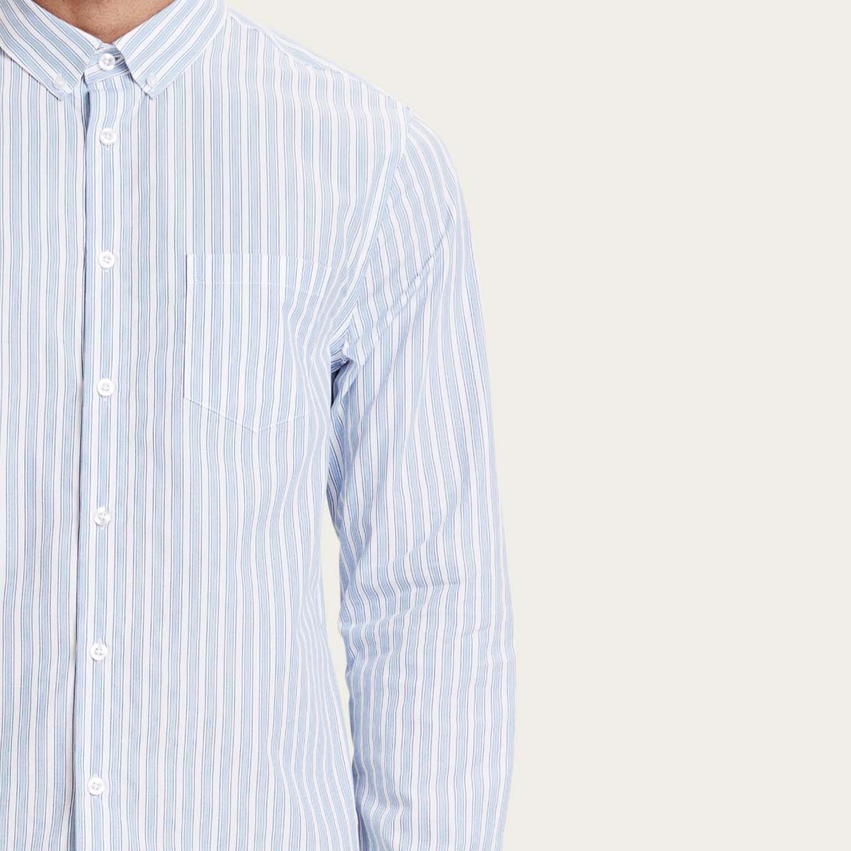 Light Blue Striped Lagos Shirt  | Bombinate