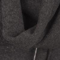 Charcoal Grey Men's Cashfelt knitted Scarf   1