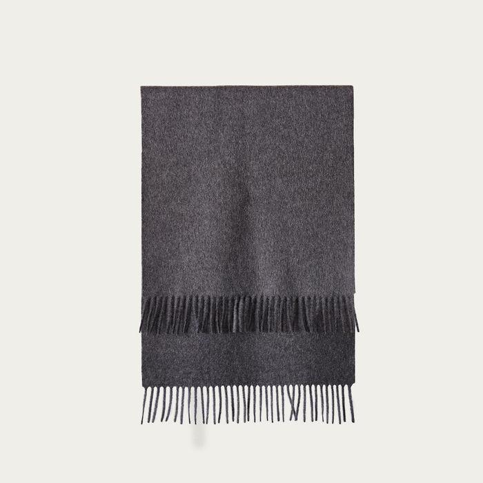 Grey The Alpaca Wool Scarf   Bombinate