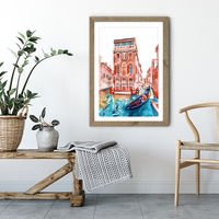Venice Art Print Oak Frame | Bombinate