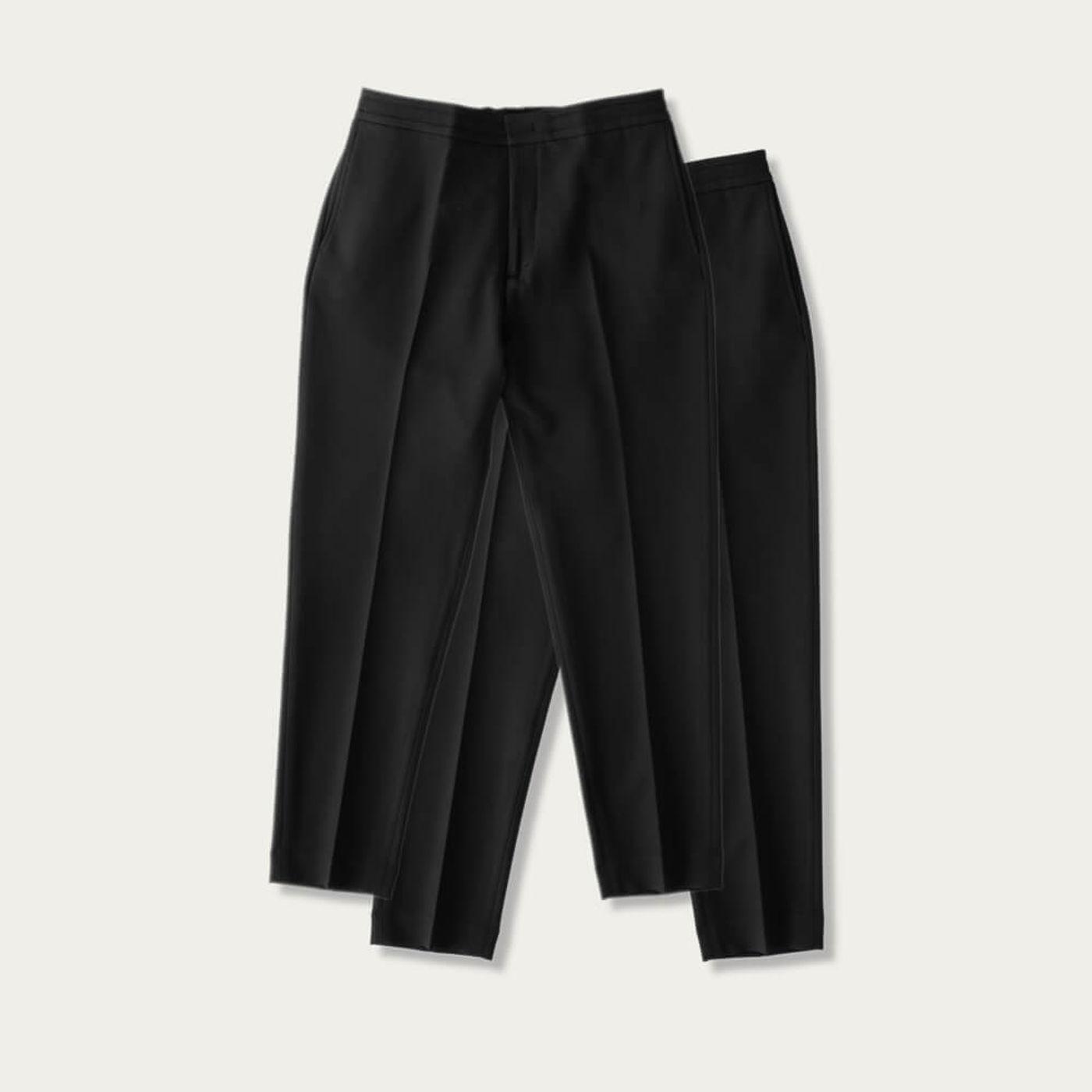Black/Black Easy Tailored Trouser - Pack of 2 | Bombinate