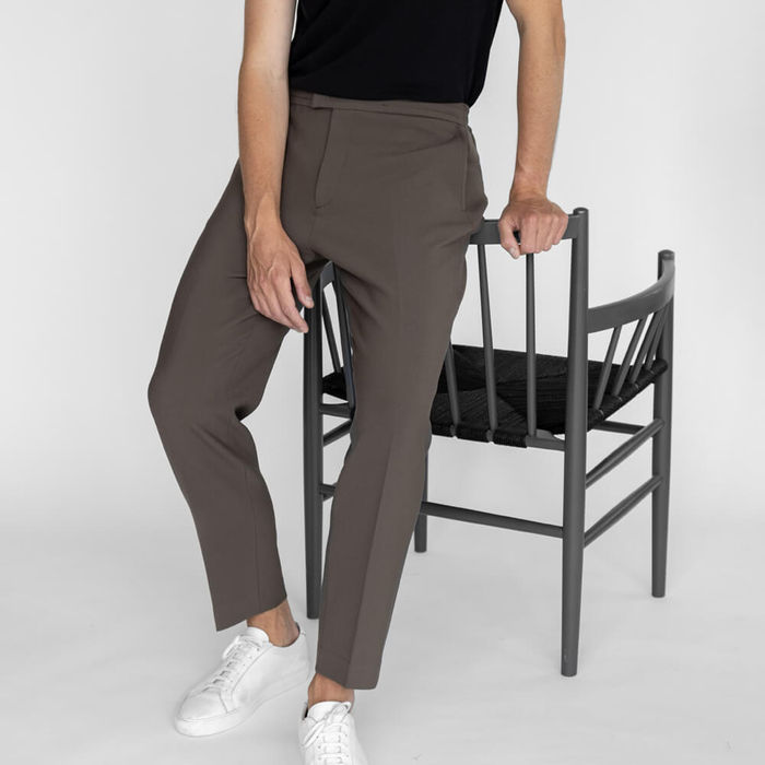 Taupe Easy Tailored Trouser   Bombinate
