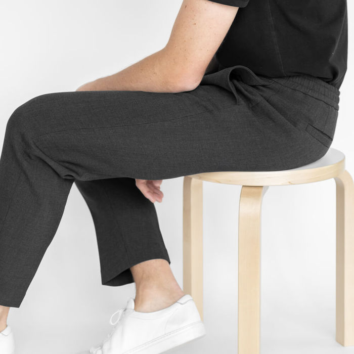 Charcoal Easy Tailored Trouser   Bombinate
