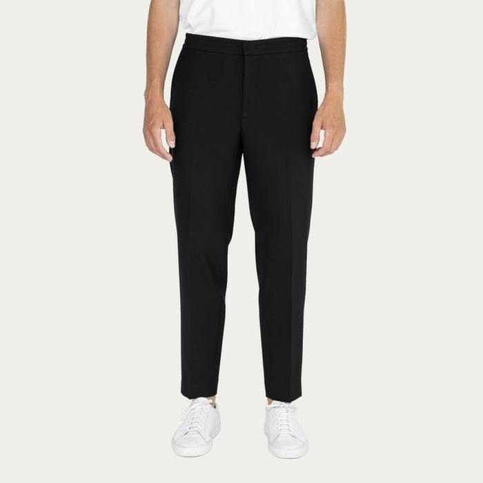 Black/Charcoal Easy Tailored Trouser - Pack of 2 | Bombinate