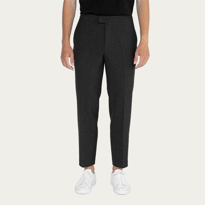 Charcoal/Charcoal Easy Tailored Trouser - Pack of 2 | Bombinate