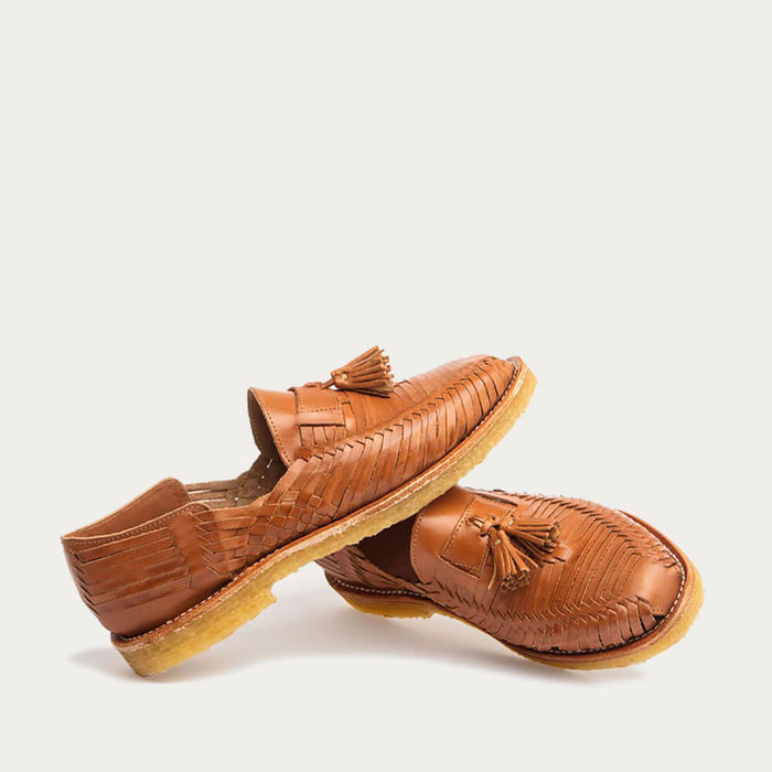 Natural Cognac Frida Huaraches | Bombinate