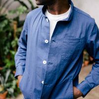 Blue Lightweight Cotton Jacket | Bombinate