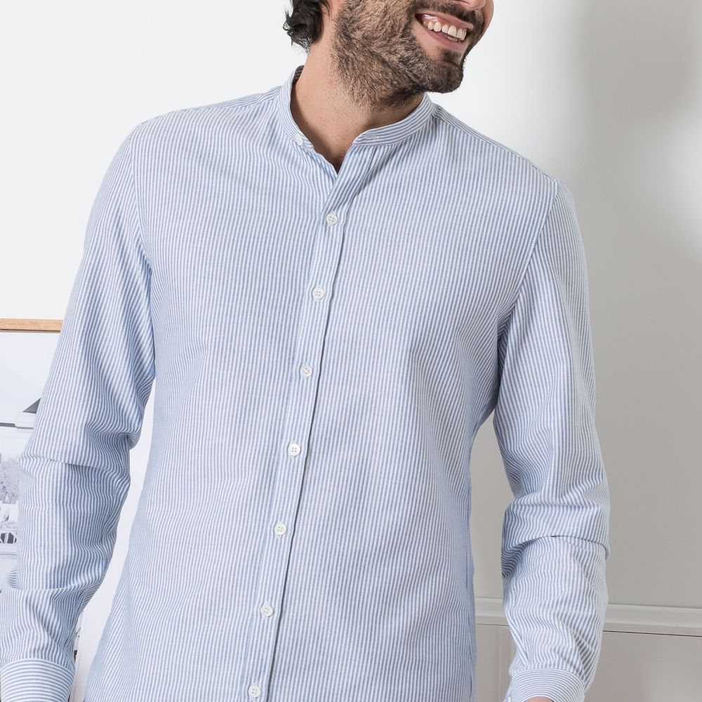 Blue Stripes Montlimart Shirt  | Bombinate