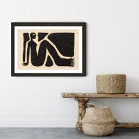 Obstacles Art Print Black Frame | Bombinate