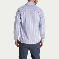 Blue Striped Overshirt | Bombinate
