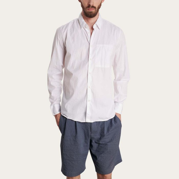 Feel Good White Cotton Shirt | Bombinate