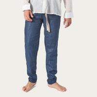 Blue Linen Pants | Bombinate