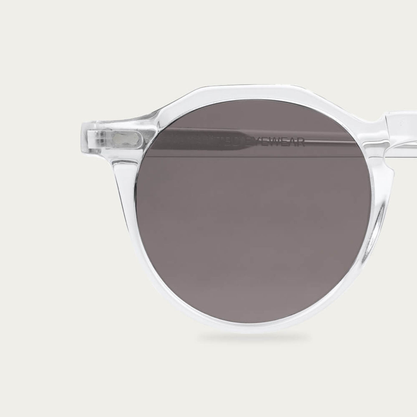 Transparent /Gradient Grey Lapel Sunglasses   Bombinate